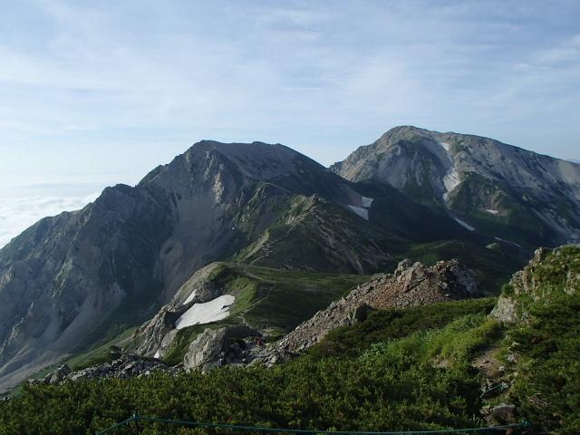 4.6杓子岳~鑓ヶ岳.JPG